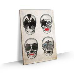 Casa Rock, Banda Kiss, Skulls, Bookends, Record Decor, Faces, Decorative Frames, Sweets, Drawings