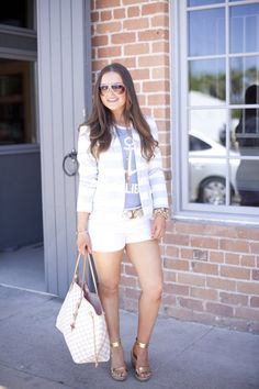 Fashion-Style-Outfit Inspiration-Outfit Ideas-Nautical-Summer-Classic-Louis Vuitton