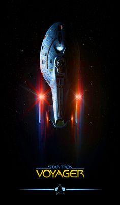 Star Trek: Voyager, by Lewis Niven ;-)~❤~ One of my favorite of all series Nave Enterprise, Star Trek Enterprise, Star Trek Voyager, Star Trek Tattoo, Deep Space Nine, Star Trek Wallpaper, Star Trek Posters, Camping 3, Star Trek Series