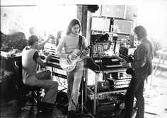 Picture of Harmonia. Krautrock supergroup from Germany. They formed as a collaboration between Michael Rother of Neu! and Hans-Joachim Roedelius and Dieter Möbius of Cluster and later included the British musician Brian Eno.