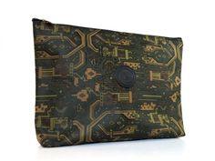 Vintage 1990s Agelidis dark green zip pouch by TheCrownStProject