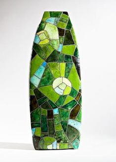 """Felder im Gebirge"" vase by Ute Grossmann"