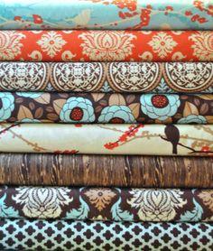 Aviary 2 Saffron Joel Dewberry Quilt Fabric Fat Quarters Quarter Bundle Quilting