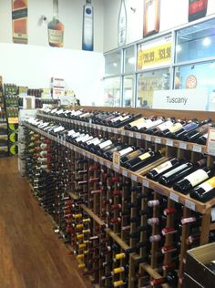 Our wine racks in Wine and Spirits Discount Warehouse in New Rochelle, NY