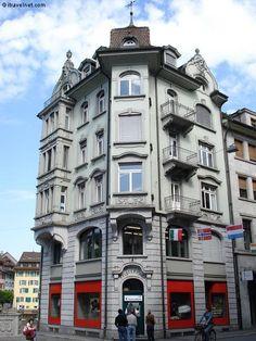Lucerne - Switzerland---beautiful building---a city full of beautiful buildings!