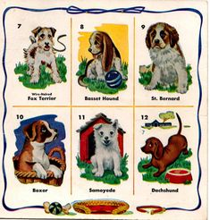 Vintage Dogs collectible ephemera art supply by honeyblossomstudio