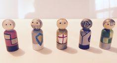 Peg dolls. Knights in shining armor