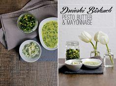 Dreierlei Bärlauch, die perfekte Beilage | Wild garlic as butter, mayonnaise or pesto