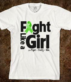 Non-Hodgkins Lymphoma Motto - Fight Like a Girl Shirts