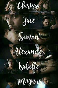 << if they're being called by their full names, then have should be Jonathan Clace Shadowhunters, Shadowhunters The Mortal Instruments, Mortal Instruments Runes, Jace Wayland, Alec Lightwood, Clary Et Jace, Clary Fray, Film Anime, Cassandra Clare Books