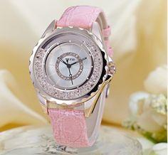 Dámské krásné hodinky se zirkony růžové – dámské hodinky Na tento produkt  se vztahuje nejen zajímavá sleva f0c0779d194