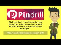 PinDrill Review - https://www.youtube.com/watch?v=p1qXdNyfzX0 - PinDrill Bonus - Enjoyment is among the main reasons for creating products at the same time, if you love it, you are going to do it nicely. Appear with more thoughts and you will really get to understand it better should you do this special task.  Whatever you're composing, give some individuality to yourself. Something which defines you against the grey backdrop of competition or other marketers out there.