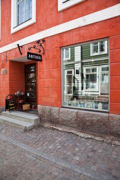 Antiquitätengeschäft in Helsinki, Finland
