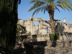 This Synagogue of Capernaum beside the Sea of Galilee is believed to be a place where Jesus would have spent much time teaching.