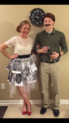 Leslie Knope and Ron Swanson Costume Up Costumes, Costumes For Teens, Couple Halloween Costumes, Costume Ideas, Halloween 2016, Happy Halloween, Halloween Party, Halloween Ideas, Ron Swanson Costume