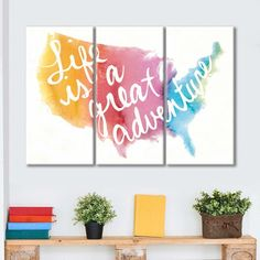 Watercolor USA Multi Panel Canvas Wall Art by ElephantStock is printed using High-Quality materials for an elegant finish. We are the specialists in Modern Décor canvas prints and we offer 30 day Money Back Guarantee Artist Canvas, Artist Painting, Artist Art, Canvas Size, Canvas Wall Art, Canvas Prints, Create Canvas, Blues Artists, Indie Art