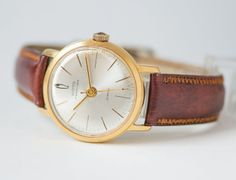 Gold plated AU20 men's wrist watch Vostok Precision by SovietEra