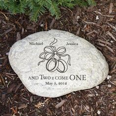 Personalized garden stones with an array of themes! Select your stone and allow us to personalize the garden design with your details for a custom gift. Engraved Wedding Gifts, Best Wedding Gifts, Personalized Wedding Gifts, Customized Gifts, Personalized Garden Stones, Garden Accessories, Garden Design, Christmas Bulbs, Place Card Holders