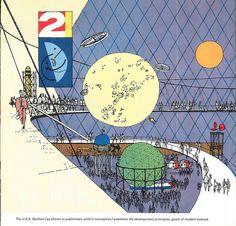 World's Fair USA Pavilion concept drawing, 1959