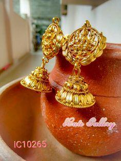 Lakshmi Goddess Antique Jhumka Rs 500/-
