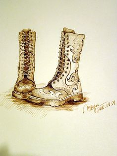 I love Martens | #sketch by Pictures Of Maya
