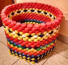 Diy Bottle Cap Crafts 834784480910913159 - Green Ideas, Recycling Plastic Bottle Caps for Crafts and Art Source by Plastic Bottle Tops, Water Bottle Caps, Plastic Bottle Flowers, Reuse Plastic Bottles, Plastic Bottle Crafts, Recycled Bottles, Plastic Recycling, Recycled Tires, Plastic Craft