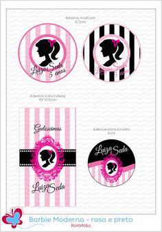 Barbie moderna rosa e preto para a Luiza