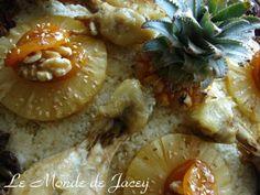 Fruchtcouscous. Endlich wieder ein Couscousrezept. Dieses Mal hat das Gericht eine süße Note… Couscous, Note, Chicken, Meat, Pineapple, Dried Apricots, Easy Meals, Beef, Cubs