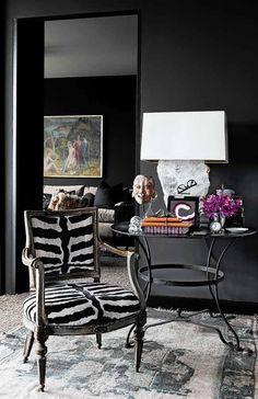 Upholstered Chair | Living Room | Zebra Pattern | Animal Print | Home Decor | Interior Design