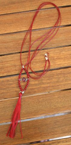 Evil eye cord long necklace, silver necklace, tassel necklace, semi precious stones, corals, glass evil eye, jewelry, gift for her, by Tmlccreations on Etsy
