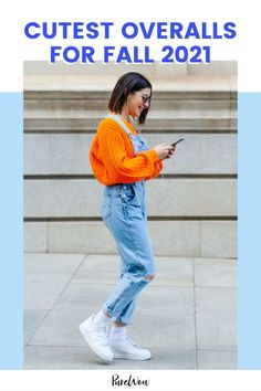Autumn is nearly upon us and what fashion piece is more fitting for fall than overalls? Here, 15 fun and stylish options to wear wherever your fall time adventures may take you. #overalls #outfits Cute Overalls, Skinny Overalls, Oversized Jeans, Top Pattern, Distressed Denim, Dress To Impress, Fall Outfits, What To Wear, Mom Jeans