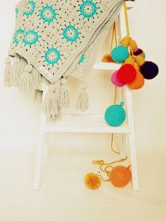 Manta Crochet Bicolor - Crochet - Tejidos de Punto - 491459