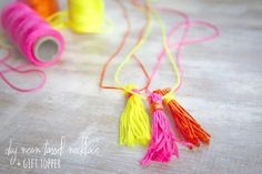 Make tassels for a necklace. | 34 Adorable Things To Do With Leftover Bits Of Yarn