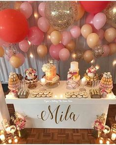 59 Birthday Home Decor That Make Your Flat Look Great - Stylish Home Decorating Designs Deco Baby Shower, Girl Shower, Baby Shower Parties, Baby Shower Themes, Baby Shower Decorations, Bridal Shower, 50th Birthday Party, Baby Birthday, Birthday Cake