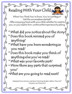 From First Grade WOW - Parent support for reading with your child.