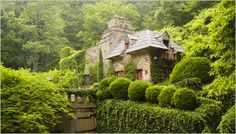My sister-in-law's Grand Sallie's house, that her family built in Asheville, NC. Simply a fairytale.