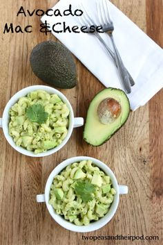 Recipe for Avocado Mac & Cheese.  Yummy!