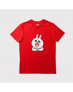 K2POP - LINE BRAND STORE OFFICIAL GOODS : CONY UNISEX T-SHIRT (TYPE A) (LIMITED EDITION) Line Cony, Line Branding, Line Friends, Brand Store, Types Of Shirts, Unisex, Mens Tops, T Shirt, Supreme T Shirt
