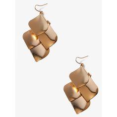 FOREVER 21 Leaf Dangle Earrings ($4.80) ❤ liked on Polyvore