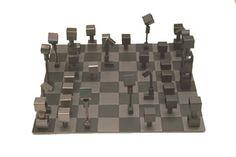 Abstract chess set by Julie Feldman