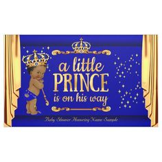 Prince Baby Shower Blue Gold Drapes Blonde Boy Banner - Planning a baby shower? Check out this banner! The perfect addition for any baby shower! Baby Shower Azul, Baby Boy Shower, Blonde Babies, Its A Boy Banner, Shower Banners, Baby Shower Party Supplies, Baby Shower Winter, Outdoor Banners