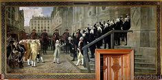 Jean-Paul Laurens - The Reception of Louis XVI at the Hotel de Ville by the Parisian Municipality in 1789, 1891