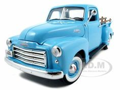Click Image Above To Purchase: 1950 Gmc Pickup Truck Blue Diecast Model Car 1/18 Die Cast Car By Yat Ming