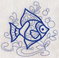 Doodle Tropical Fish design (M2763) from www.Emblibrary.com