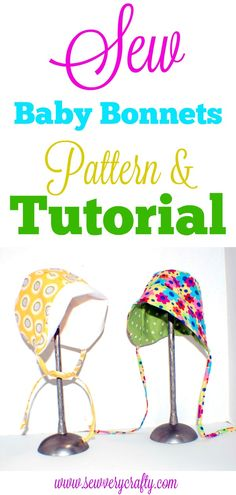 Easy Make Free Baby Bonnet Pattern : How to sew baby bonnets a complete pattern and tutorial, Sewing Hacks, Sewing Tips, Sewing Ideas, Baby Sewing Tutorials, Sewing Crafts, Sewing Basics, Craft Tutorials, Craft Projects, Baby Bonnets