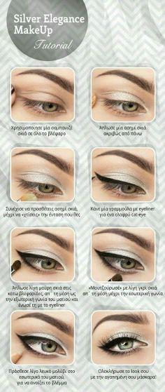 Maquillaje en gris