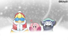 BLIZZARD by llKirbyXll.deviantart.com on @DeviantArt. Why is Dedede the one that is cold? He's a penguin!