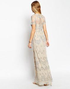 Needle & Thread | Needle & Thread Embellished Tiered Petal Maxi Dress at ASOS