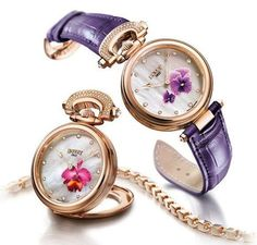 The Mille Fleurs Watch by Bovet Lets You Pick Your Favourite Flower #watches trendhunter.com