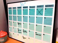 Blue Ombre Paint Chip Calendar